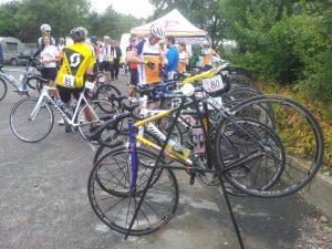 A well-earned break for the bike